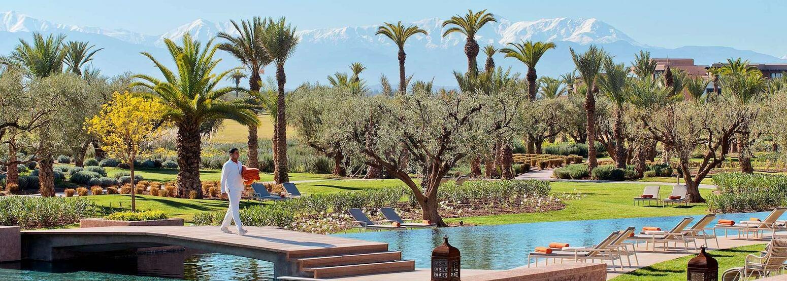 Main Swiming Pool at Royal Palm hotel Marrakesh
