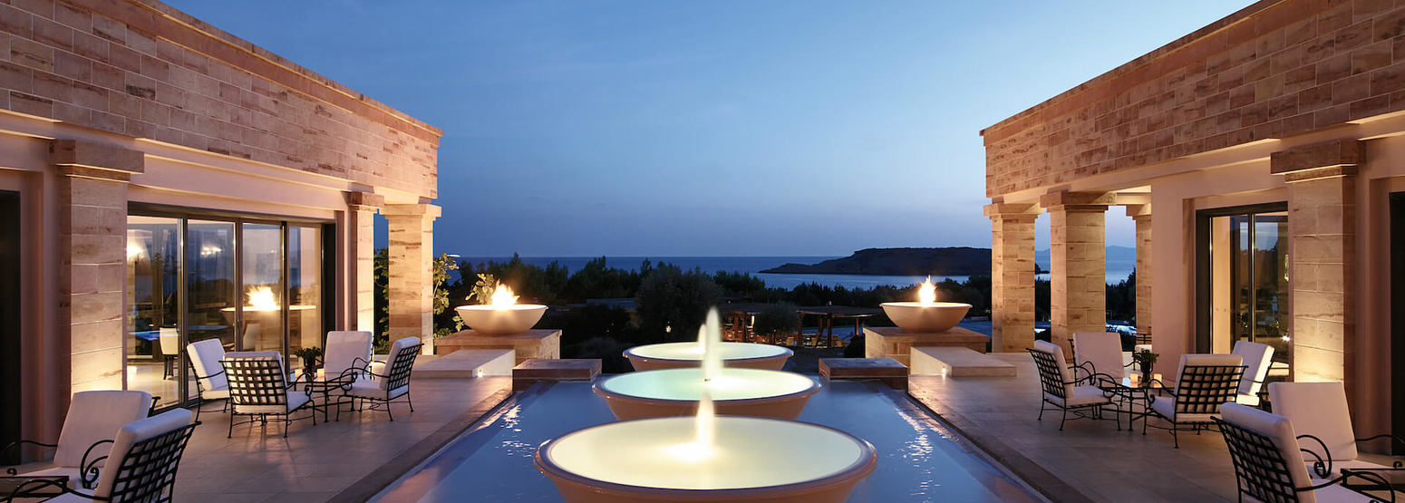Lobby Lounges with Inspiring Atmosphere at Cape Sounio
