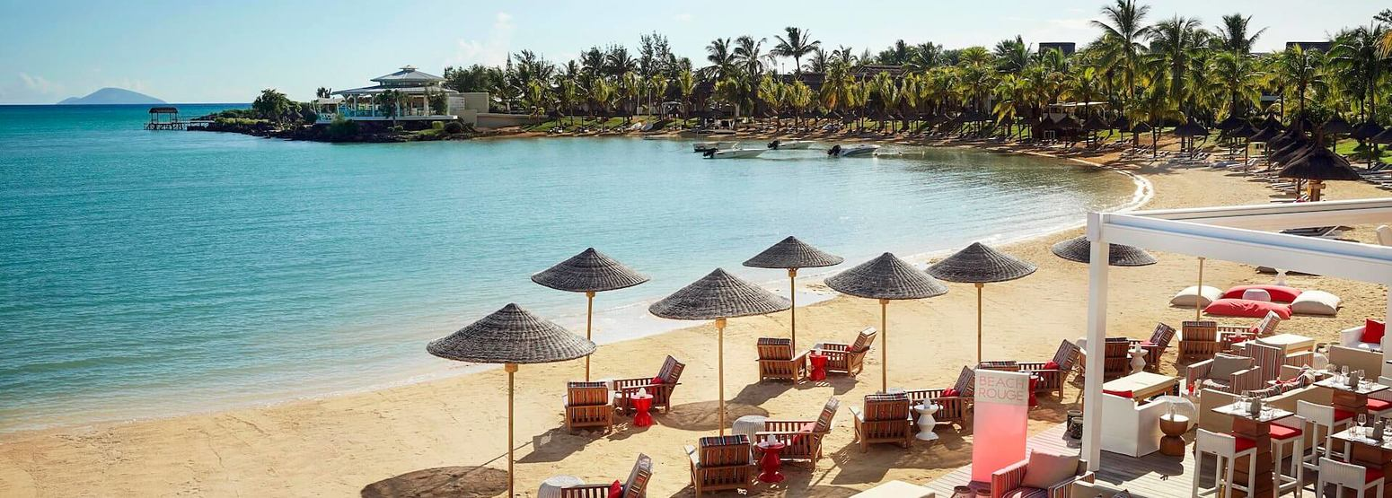 beach at lux grand gaube resort mauritius