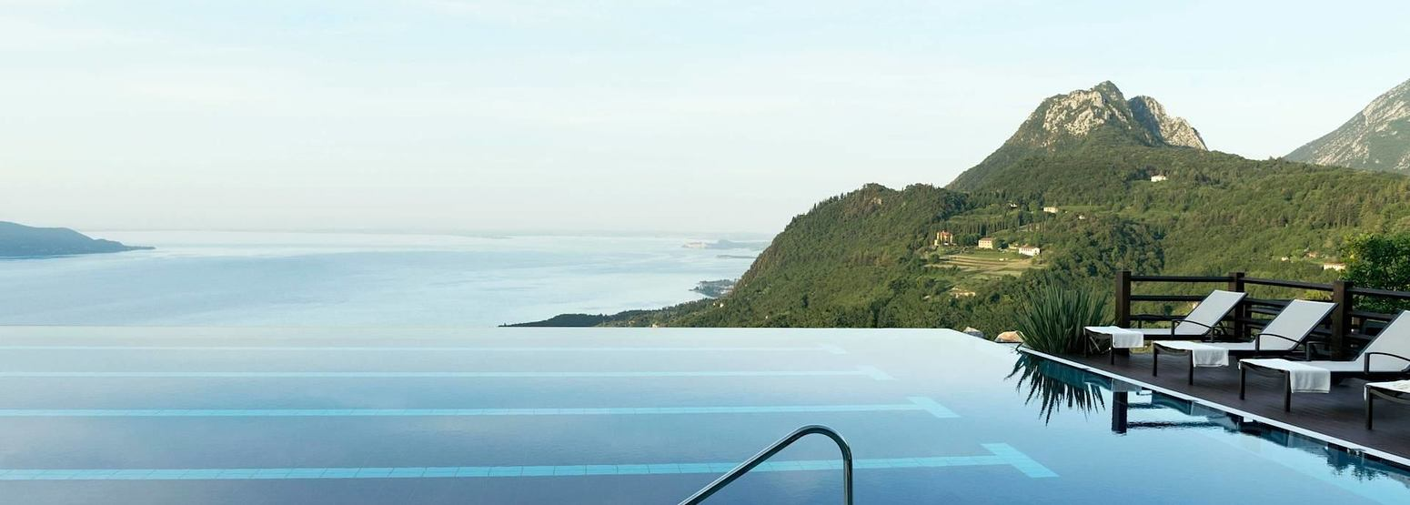 infinity pool with a view at Lefay Resort and Spa Italy