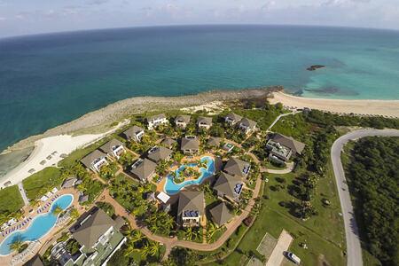 aerial view of melia buenavista hotel cuba