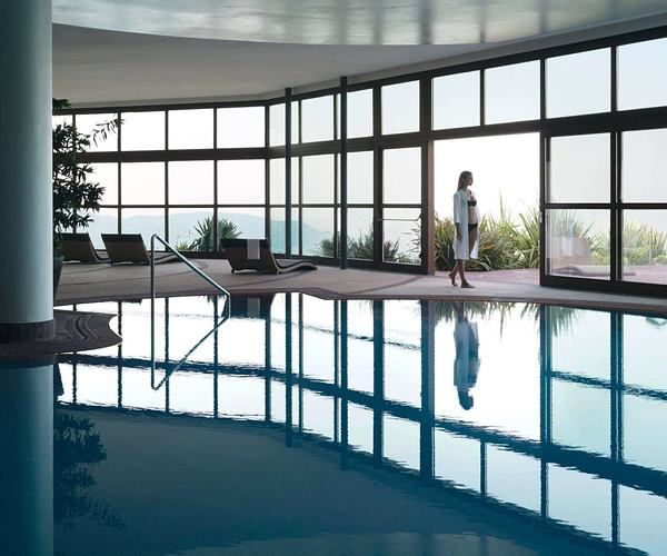 indoor outdoor pool at Lefay Resort and Spa Italy
