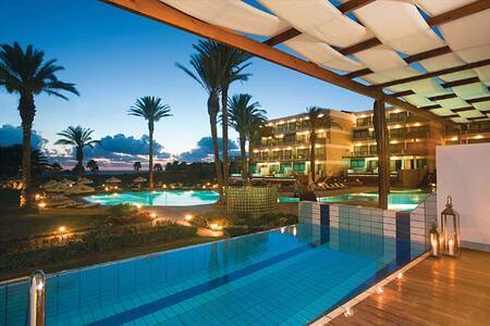 night pool at asimina suites hotel cyprus