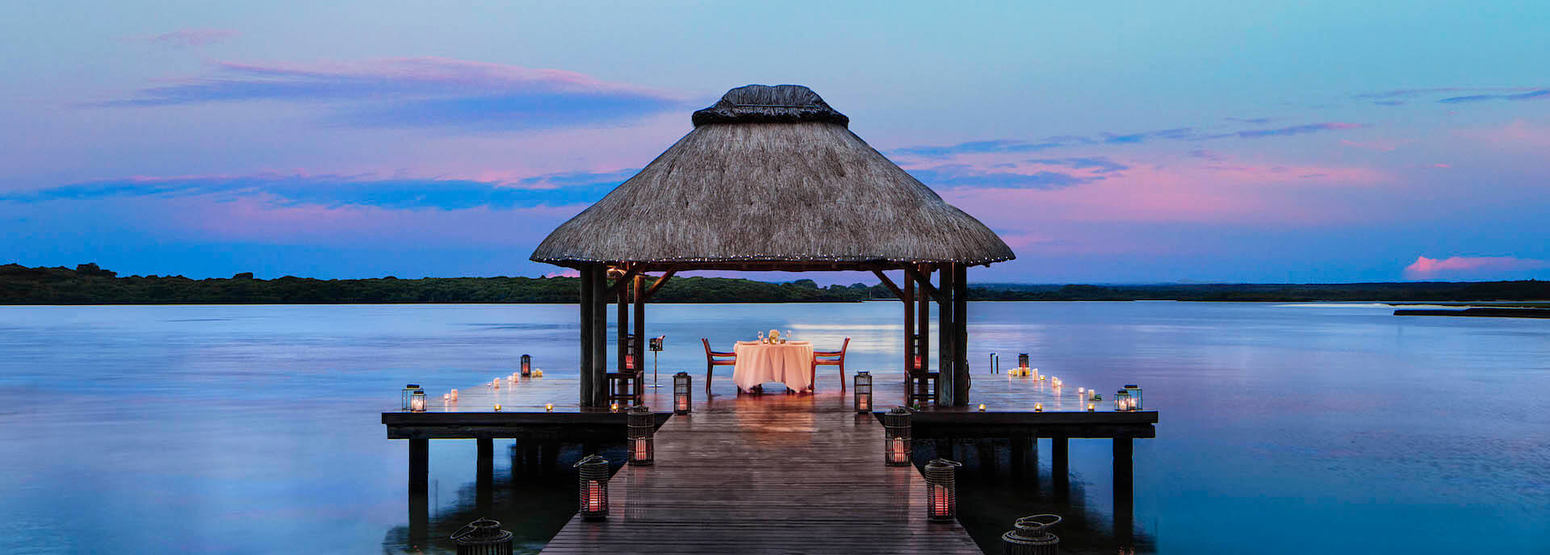 private candlelight dining at le saint geran hotel mauritius
