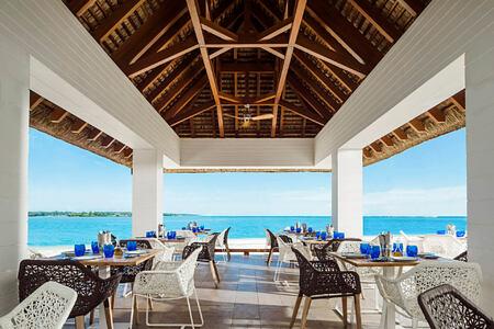 la pointe restaurant interior at le saint geran hotel mauritius