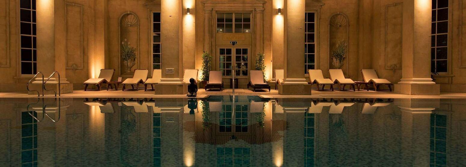 spa pool at chewton glen hotel england uk