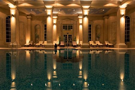 spa pool at chewton glen hotel england uk
