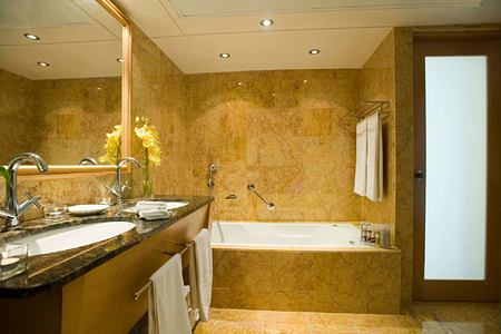bathroom at asimina suites hotel cyprus