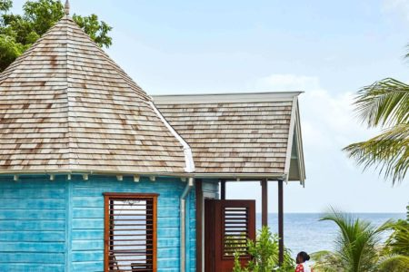 beach hut at goldeneye hotel jamaica caribbean