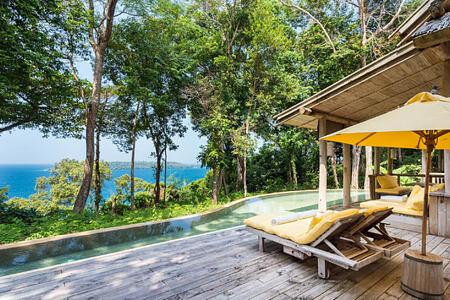 2 Bedroom Sunset Ocean View Pool Retreat Deck at soneva kiri resort thailand