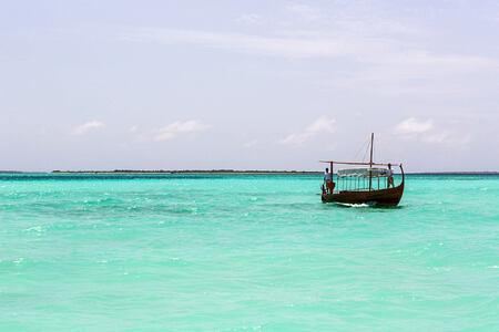 boat at cheval blanc randheli hotel maldives