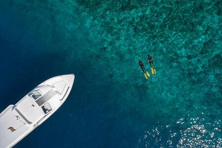 boat experiences snorkelling at cheval blanc randheli hotel maldives