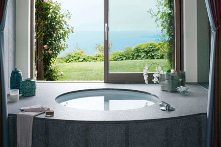 royal suite jacuzzi at Lefay Resort and Spa Italy