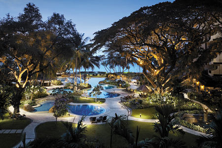 night pools at shangri la rasa sayang resort and spa malaysia