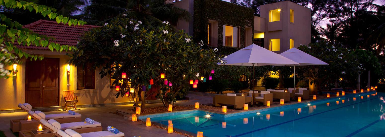 pool at shreyas hotel india