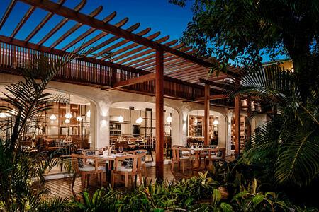 exterior garden at le saint geran hotel mauritius