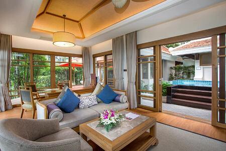 2 bedroom Grand Deluxe Beachfront Villa at santiburi beach resort and spa