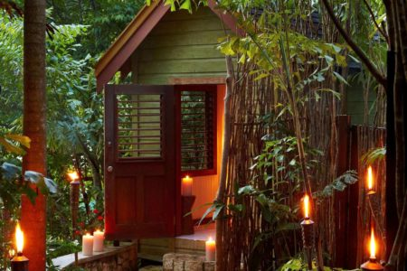 forest hut at goldeneye hotel jamaica caribbean