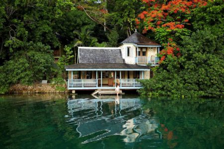 exterior of goldeneye hotel jamaica caribbean