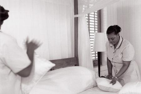 housekeeping at como parrot cay resort caribbean