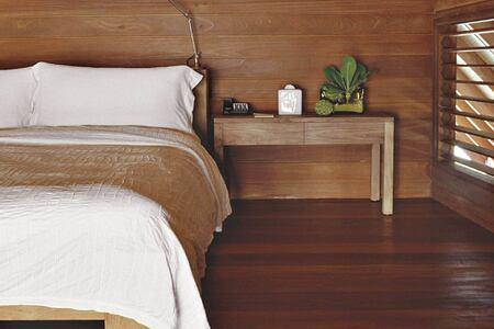 loft villa bedroom at Cocoa Island by COMO Resort Maldives