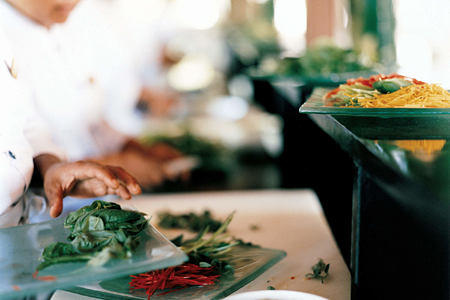 preparing food at como shambhala estate bali