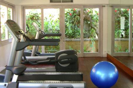 Gym at Uma Ubud resort bali