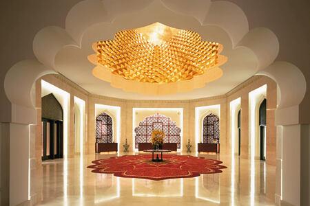 lobby at shangri la barr al jissah resort oman