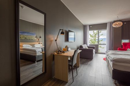 double deluxe room at alda hotel iceland