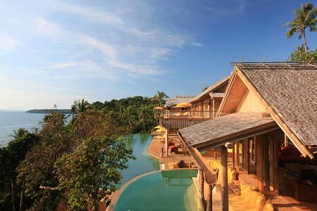 6 Bedroom Sunset Ocean View Pool Reserve Exterior Pool at soneva kiri resort thailand