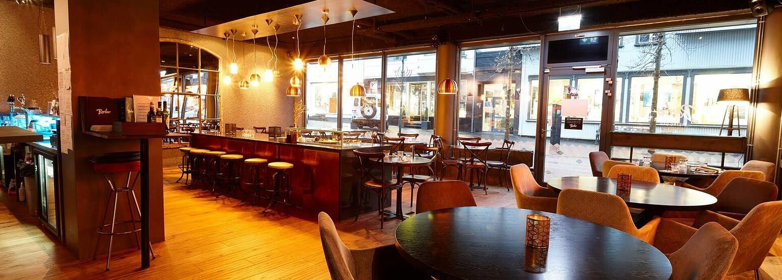 restaurant bar at alda hotel iceland