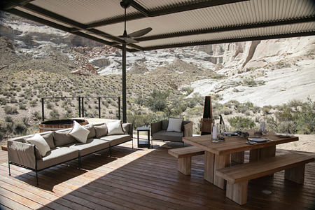 living room at amangiri resort usa