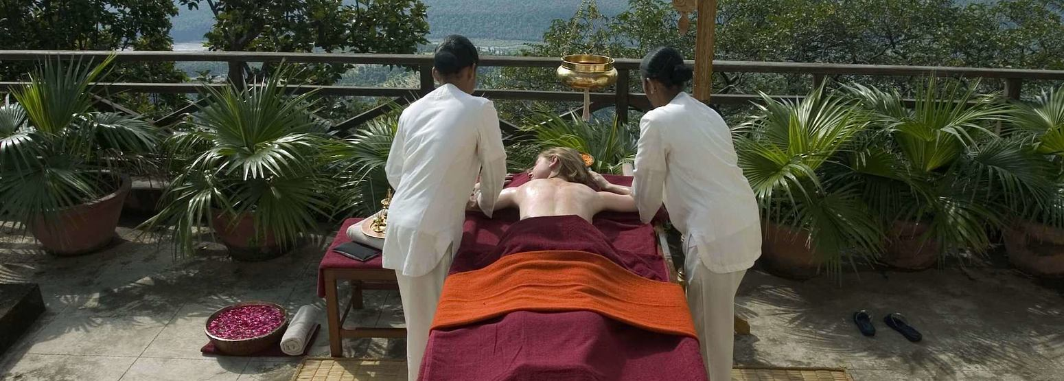Abhayanga spa at ananda himalayas hotel india