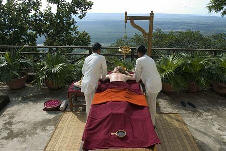 Abhayanga spa at ananda himalayas hotel india