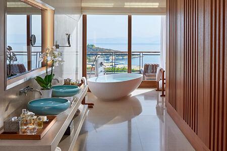 Aegean Suite-Bathroom at mandarin oriental bodrum hotel turkey