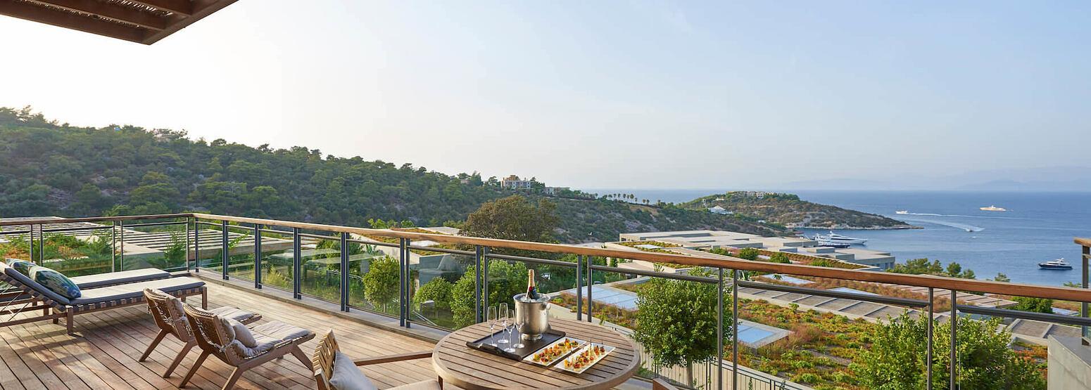 Aegean Suite Terrace at mandarin oriental bodrum hotel turkey