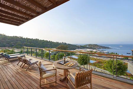 Aegean Suite Terrace at mandarin oriental bodrum hotel turkey