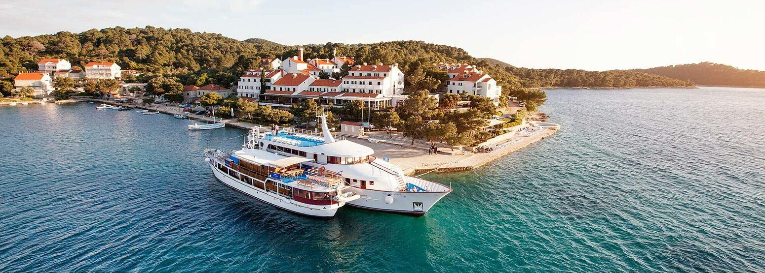 Aerial view of Hotel Odisej Croatia