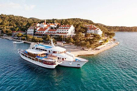 Aerial view of Hotel Odisej Croatia