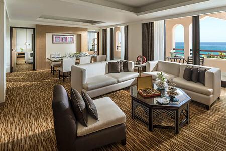 Al Bandar speciality suite living area at shangri la barr al jissah resort oman