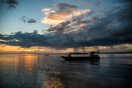 Aman Boat at amansara hotel cambodia