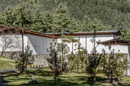 Amankora Thimphu (seen from entrance) at Amankora Thimphu lodge Bhutan