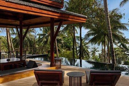 pool pavilion at amanpuri hotel phuket