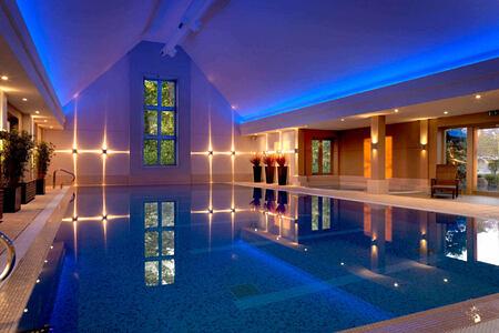 An evening swimming at Calcot Spa at calcot manor england uk