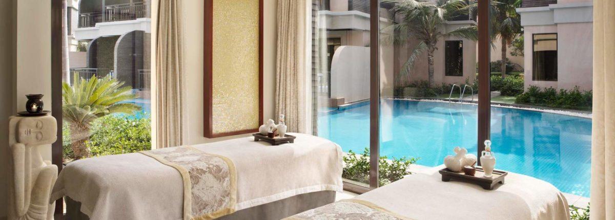 couples treatment room at Anantara The Palm Dubai