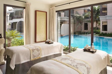 couples treatment room at Anantara The Palm Dubai