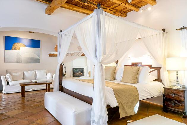 bedroom at atzaro hotel ibiza