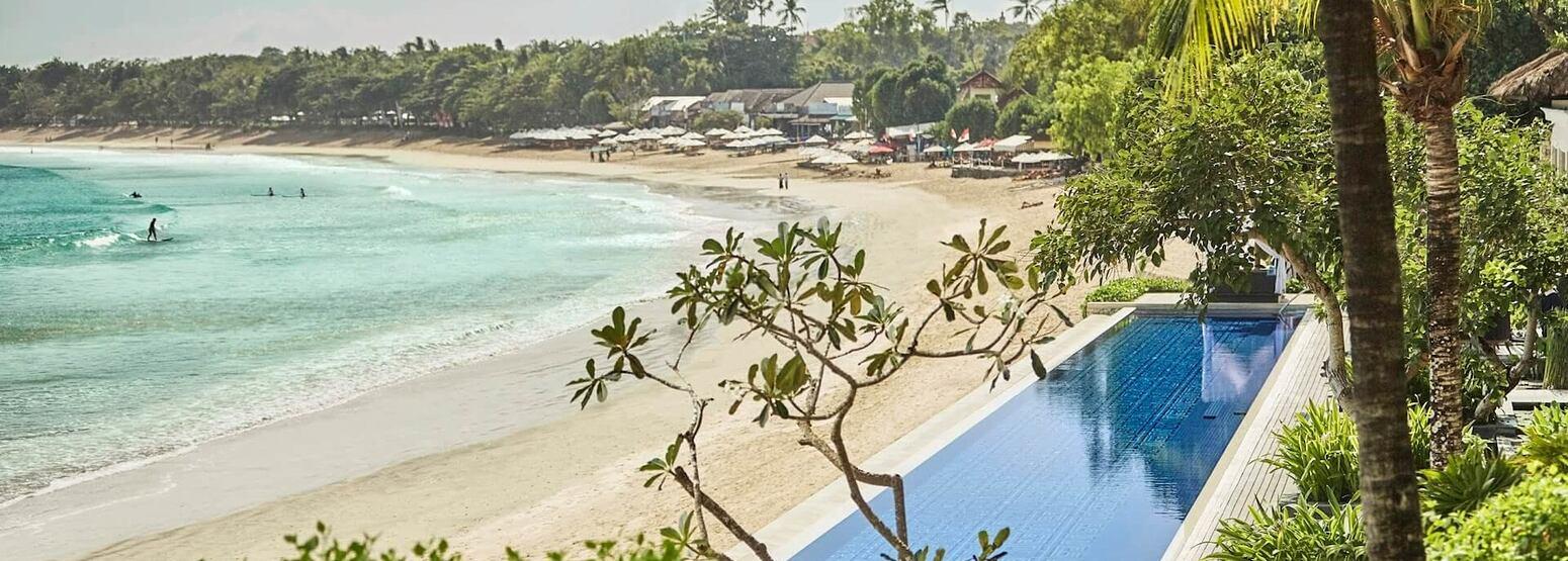 beach at four seasons resort bali