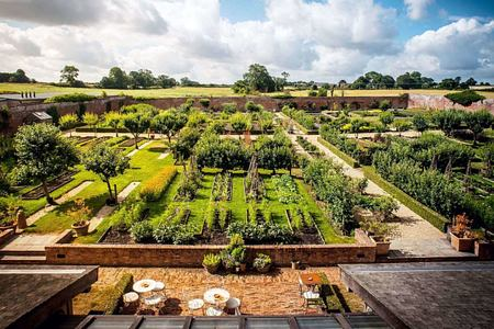 garden at babington house somerset uk
