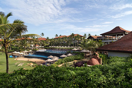pool exterior at anantara peace haven resort sri lanka